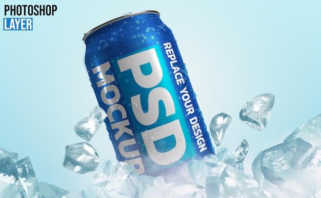 Aluminum soda can mockup