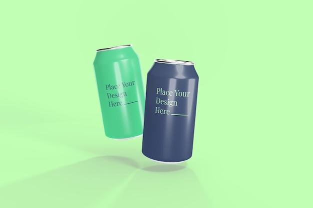 Alumunium soda can mockup