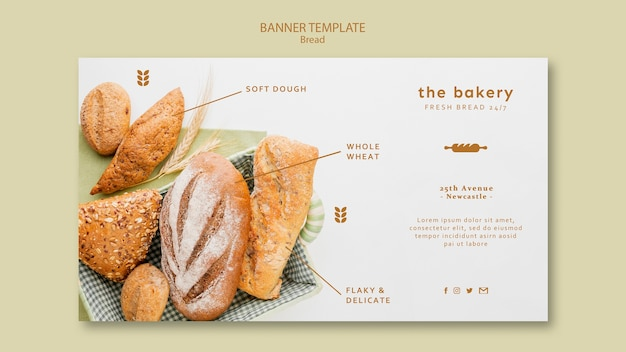 Always fresh bread banner template