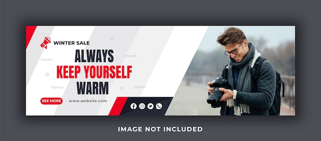 Always keep yourself warm facebook cover template
