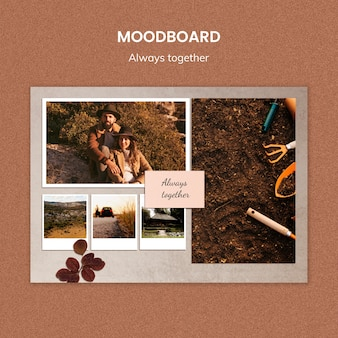 Always together moodboard template