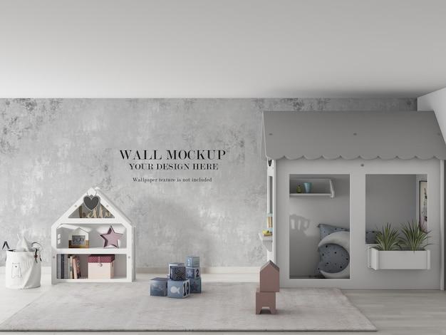 Удивительный дизайн мокапа детской стены