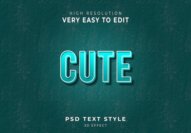 Amazing cute 3d text style