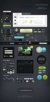 Amazing interface design elements psd