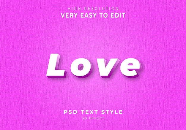 Amazing love 3d text style