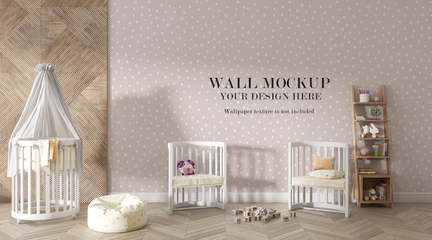 Amazing nursery room wall background