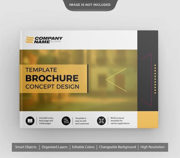 Amazing realistic landscape brochure or flyer mockup
