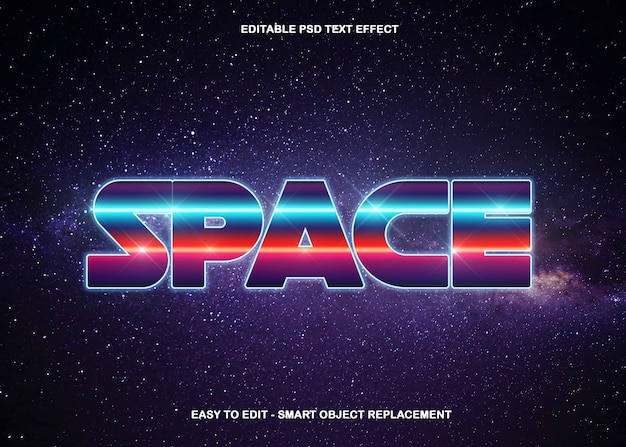 Amazing space universe text effect