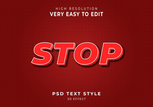 Amazing stop 3d text style
