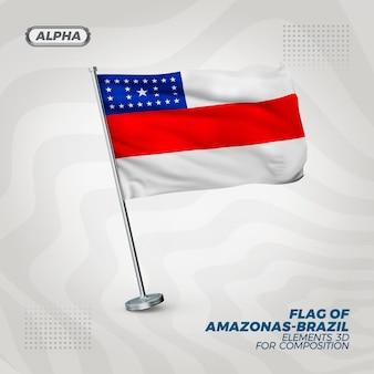 Реалистичный 3d текстурированный флаг амазонки