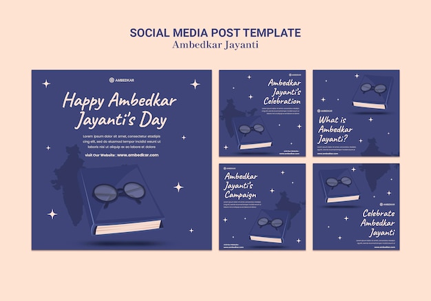 Ambedkar jayanti instagram post modelli