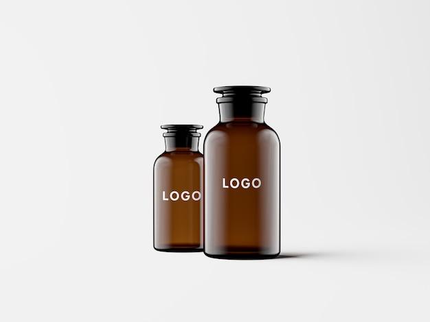 Amber glass apothecary jars mockup от энтони бойда графика
