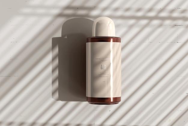 앰버 유리 화장품 병 모형