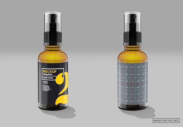 Мокап бутылки-капельницы из янтарного стекла