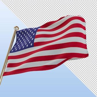 미국 국기 3d 렌더링 디자인