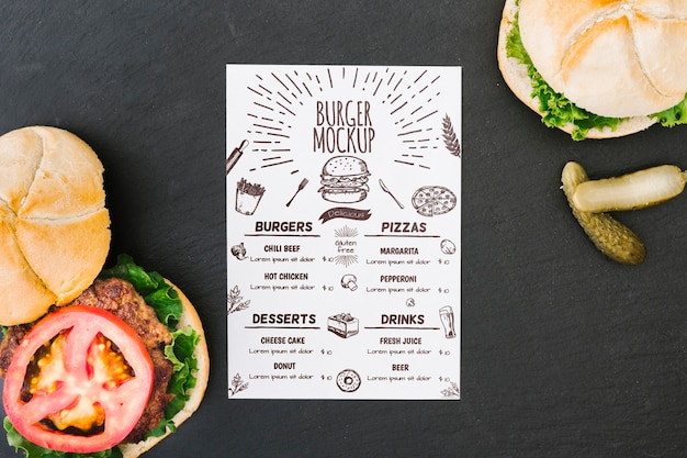 American food concept mock-up