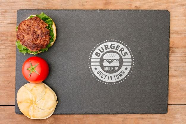 American food concept mock-up