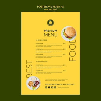 American food flyer concept template