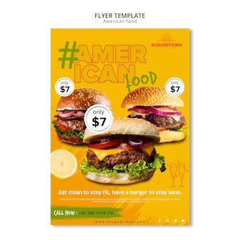 American food flyer template design