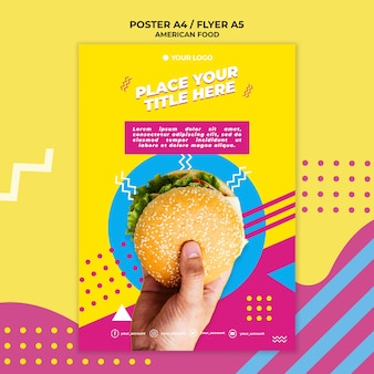 American food flyer template