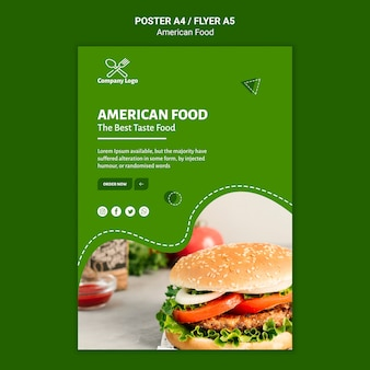 American food poster design