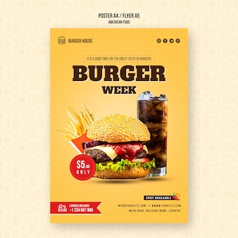 American food poster template