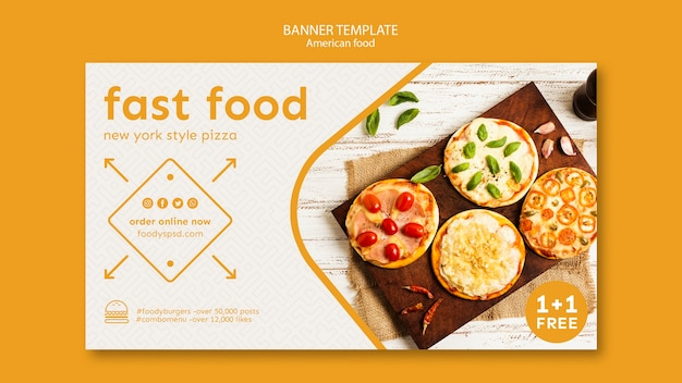 American food template banner