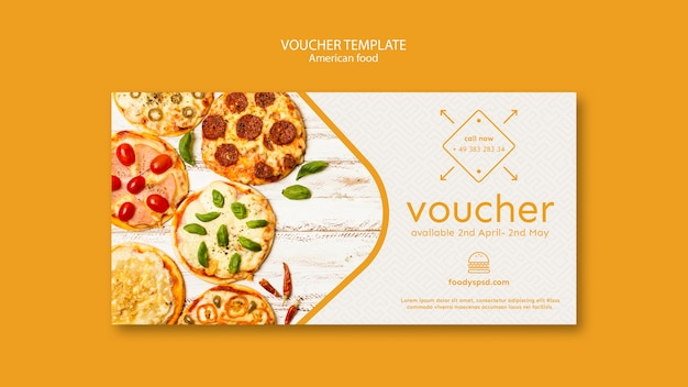 American food template voucher