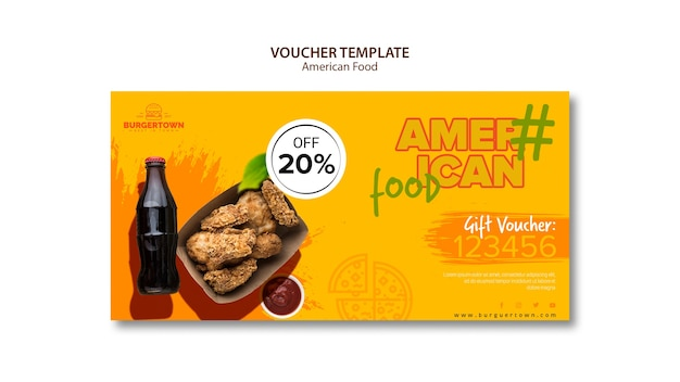 American food voucher template