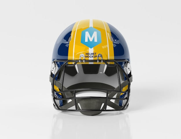 American football helmet isolated mockup