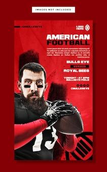 American football social media instagram story banner template