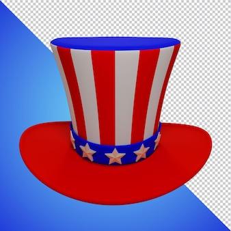 미국 모자 독립 기념일 3d 렌더링