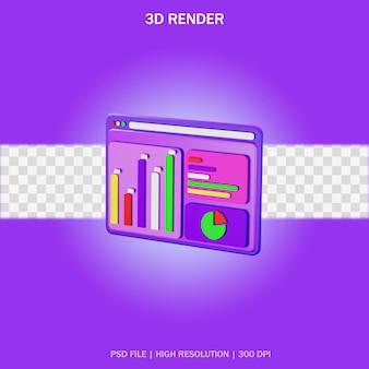 Аналитическое приложение с прозрачным фоном в 3d дизайне