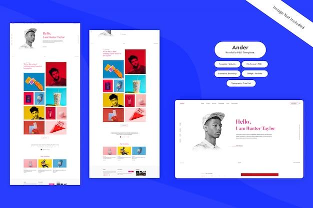 Ander - portfolio  template