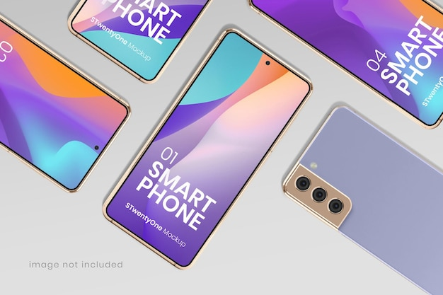 Макет смартфона на android