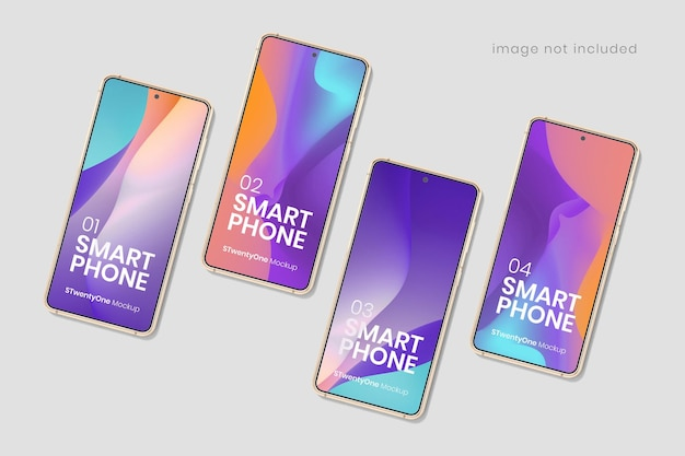 Android smartphone device mockup