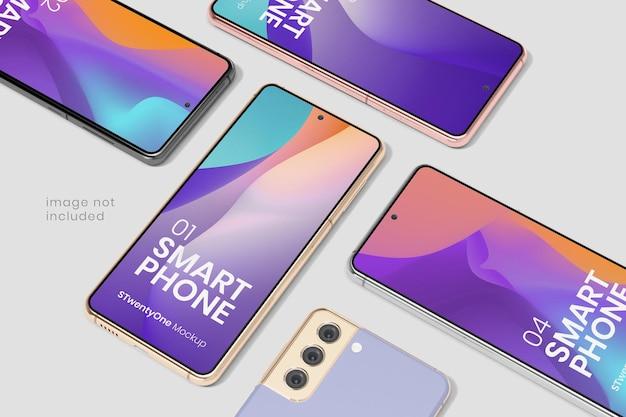 Modello di dispositivo smartphone android Psd Gratuite