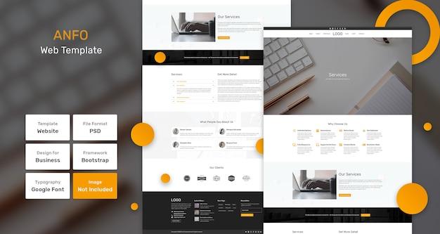 Бизнес веб-шаблон anfo