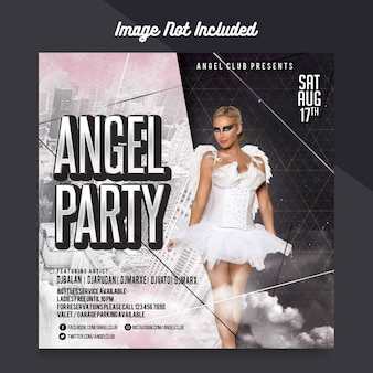 Angel party flyer template