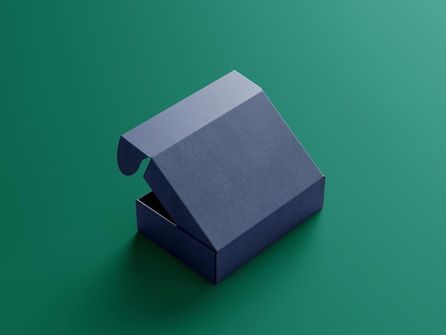 アングルビューパッケージボックスコンセプトモックアップ