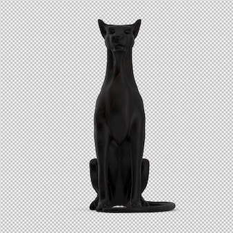 Animal statue 3d isolated render