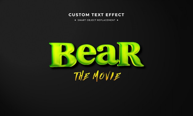 Animation movie 3d text style effect