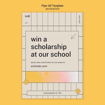 Animation scholarship flyer template