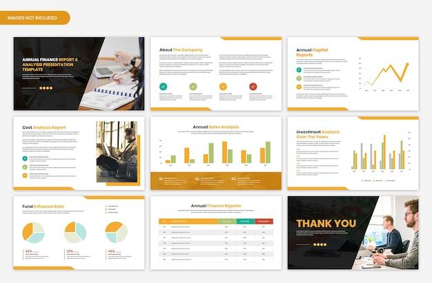 연간 재무 보고서 및 분석 프레젠테이션 템플릿
