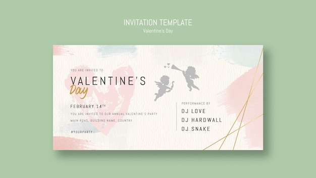 Annual valentine's day party invitation template