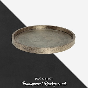 Antique bronze tray on transparent