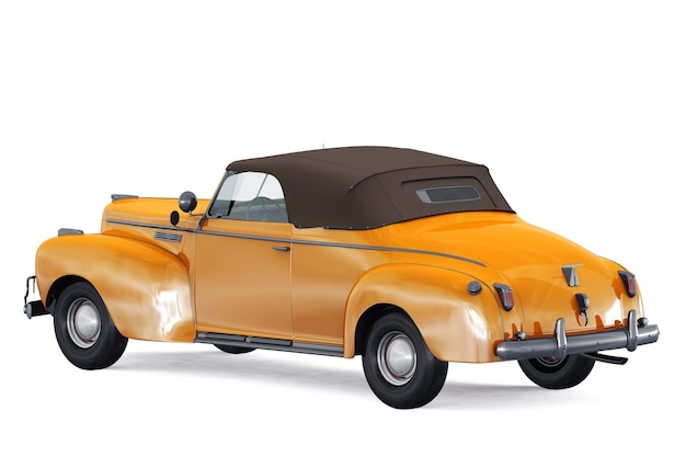 Antique car 1940 mockup