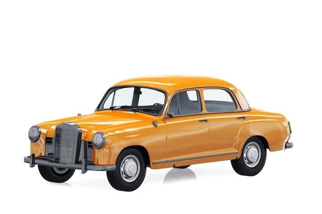 Antique car 1953 mockup