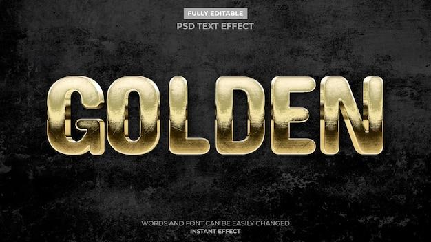 Antique gold text effect