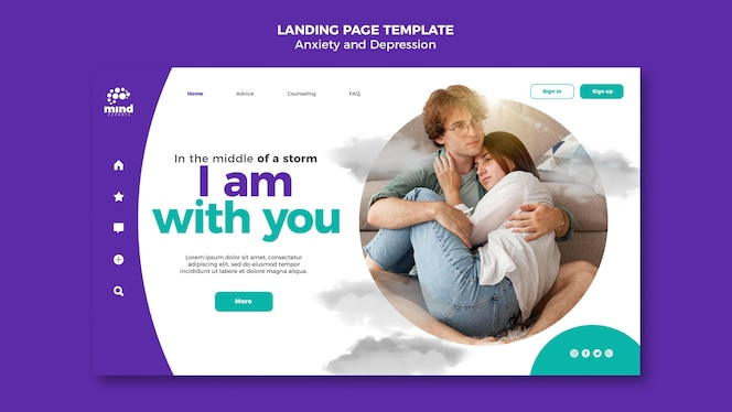 Anxiety and depression template landing page